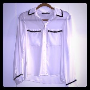 Zara white blouse new with tags